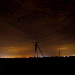 Zorza polarna nad Rozdrażewem - 07.10.2015