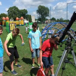 Obserwacje astronomiczne podczas festynu szkolnego w Nowej Wsi - 18.06.2017