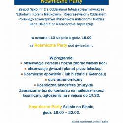 Sprawozdanie z obserwacji Perseidów w Krotoszynie - 10.08.2017
