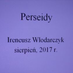 Sprawozdanie z obserwacji Perseidów w Rozdrażewie - 11.08.2017