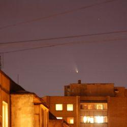 Kometa Panstarrs widziana z Obserwatorium w Wilnie - 17.03.2013 (fot. K. Cernis)